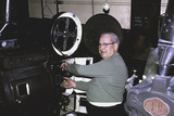<p>projection booth, these machines moved over from the Chicago theatre when they upgraded their equipment</p>