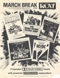 <p>A flyer advertising a week of rock and horror films for the school March Break.</p>