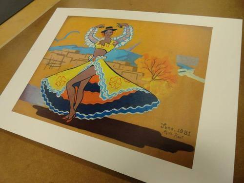 Screen Tower Flamingo Dancer Original Art