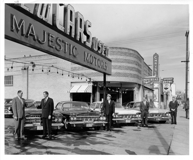 Gothic Theatre in the background. 1959 photo courtesy of Mark E.