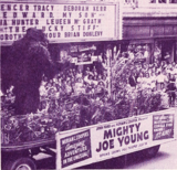 "<p>A three hour parade in Hartford allowed the Poli to promote ""Mighty Joe Young"" in 1949. Great showmanship.</p>"