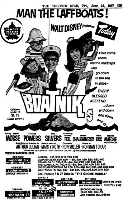 """AD FOR """"THE BOATNIKS"""" - SHERIDAN AND OTHER THEATRES"""