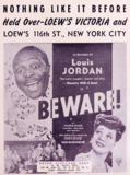 "<p>Louis Jordan's ""Beware"" reaches its second week in 1946 at the Victoria.</p>"