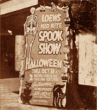 "<p>October 31, 1946 ""Spook Show"" in Rochester.</p>"