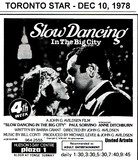 "AD FOR ""SLOW DANCING IN THE BIG CITY"" - PLAZA THEATRE"