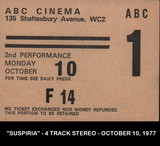 TICKET STUB FOR THE ABC CINEMA - 135 SHAFTESBURY AVE, LONDON UK