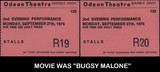 TICKET STUBS FOR THE ODEON MARBLE ARCH THEATRE LONDON UK