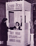 <p>As the Loew's Poli, the theatre installs the war bond booth in 1943.</p>