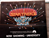 ADVERTISING FOR THE WRATH OF KHAN - UNIVERSITY THEATRE