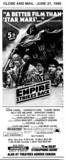 "AD FOR ""THE EMPIRE STRIKES BACK"" - UNIVERSITY THEATRE"