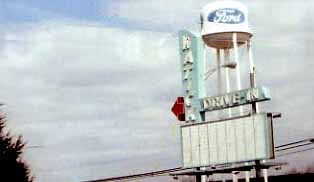 Natick Drive In sign on Route 9