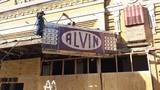 2015 removal of the Alvin marquee. Photo credit Joe Salas.
