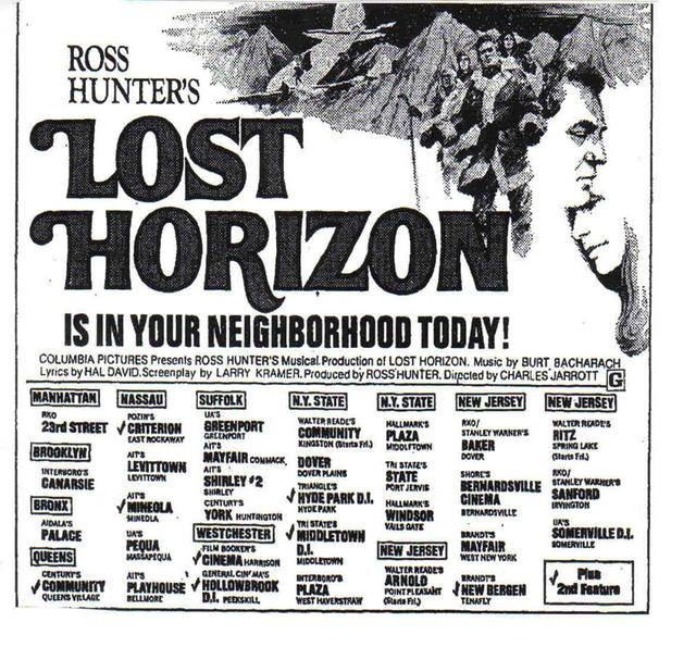 LOST HORIZON 1973 opening wide
