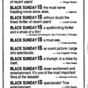 "AD FOR ""BLACK SUNDAY"" - UNIVERSITY AND JACKSON SQUARE HAMILTON THEATRES"
