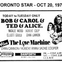 "AD FOR ""BOB & CAROL & TED & ALICE AND THE LOVE MACHINE"" - DANFORTH THEATRE"