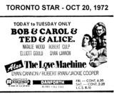 """AD FOR """"BOB & CAROL & TED & ALICE AND THE LOVE MACHINE"""" - DANFORTH THEATRE"""