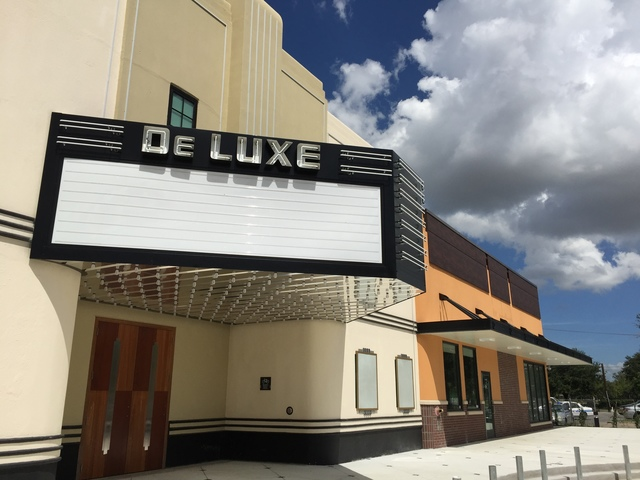 The newly remodeled DeLuxe Theater (August 2015)