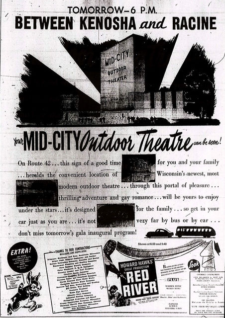 MID-CITY OUTDOOR Theatre; Somers (Kenosha), Wisconsin.