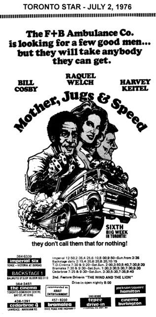 "AD FOR ""MOTHER, JUGS AND SPEED"" - IMPERIAL AND OTHER THEATRES"