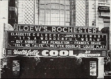 "<p>Inviting front with hanging plants for ""It's a Wonderful World"" playing at the wonderfrul Loew's Rochester  in 1939.</p>"