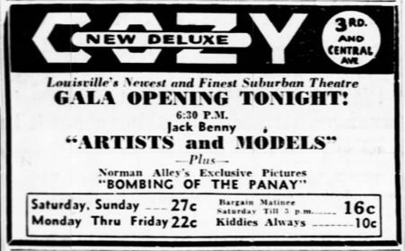 January 15th, 1938 grand opening ad