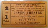 April 1932 ticket image, courtesy of Kathy Martello‎.