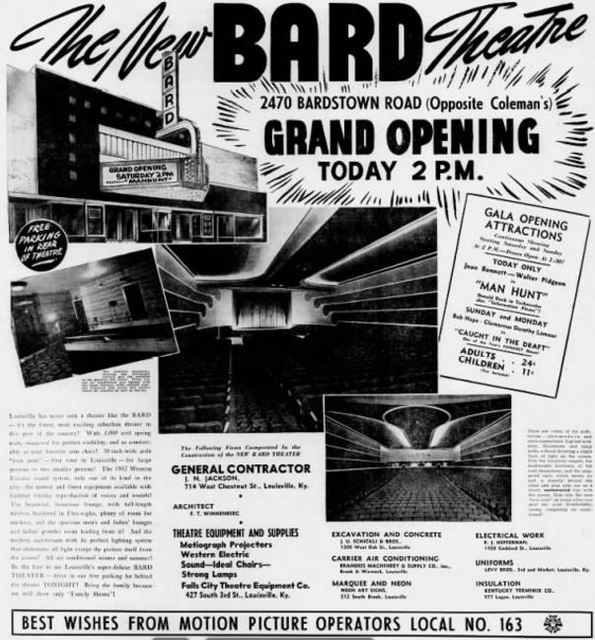 October 18th, 1941 grand opening ad