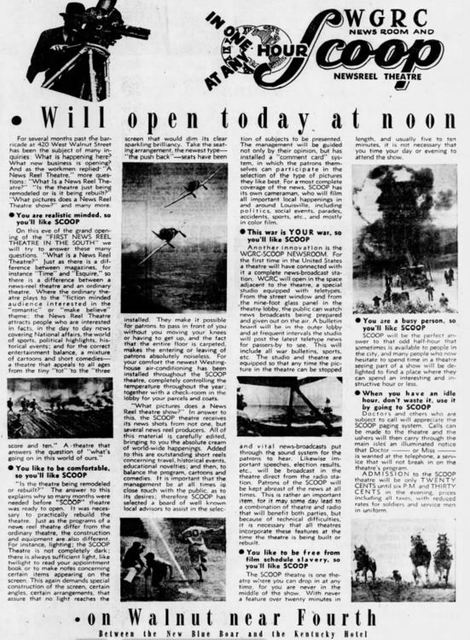 April 17th, 1942 grand opening ad