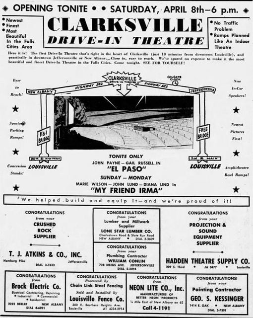 April 4th, 1950 grand opening ad