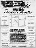 June 30th, 1950 grand opening ad as Twin Drive-In