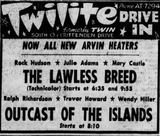 March 6th, 1953 reopening ad as Twilite Drive-In