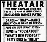May 27th, 1966 grand opening ad Theatair, the New Drive-In Theatre