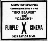 May 12th, 1972 opening ad as Purple X