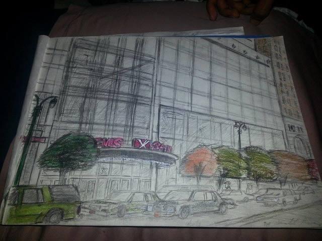 My drawings of the AMC Loews 34th Street 14