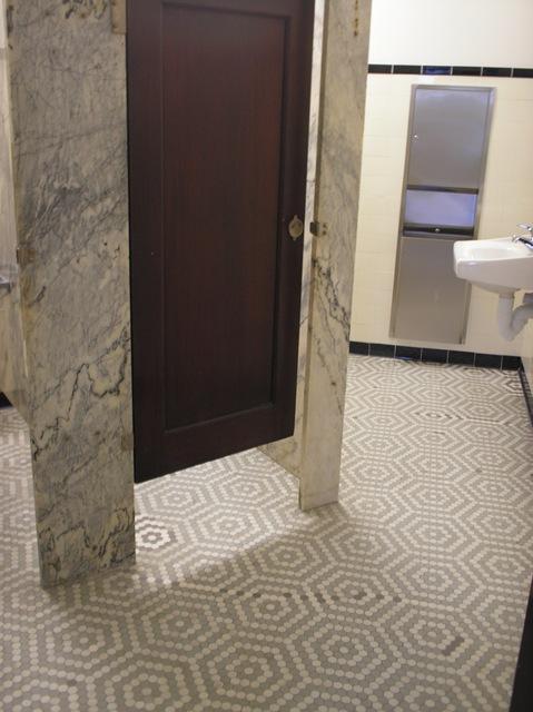 Men's Restroom, with Stall Door