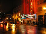<p>The Fox Oakland, and the magic that can only be experienced when viewing a lit theater marquee on a rainy night—its lights reflected in the wet pavement.</p>