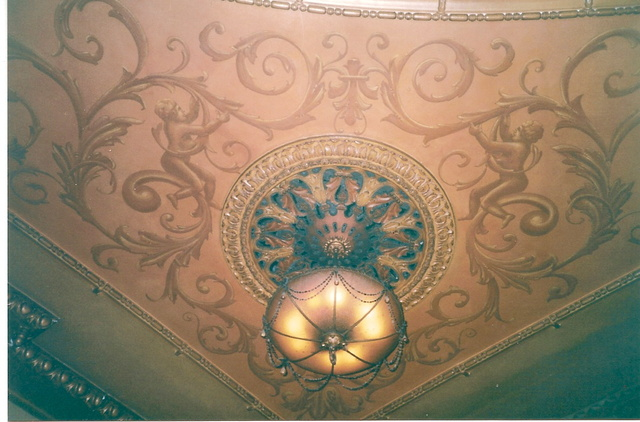 Ceiling over balcony