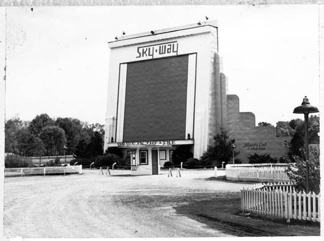 Vintage Image Of The Skyway Drive-In Theatre...Chattanooga, TN
