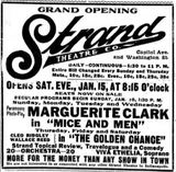 January 15th, 1916 grand opening ad