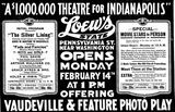 <p>February 13th, 1921 grand opening ad</p>
