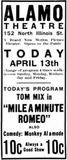 April 13th, 1924 opening ad as Alamo