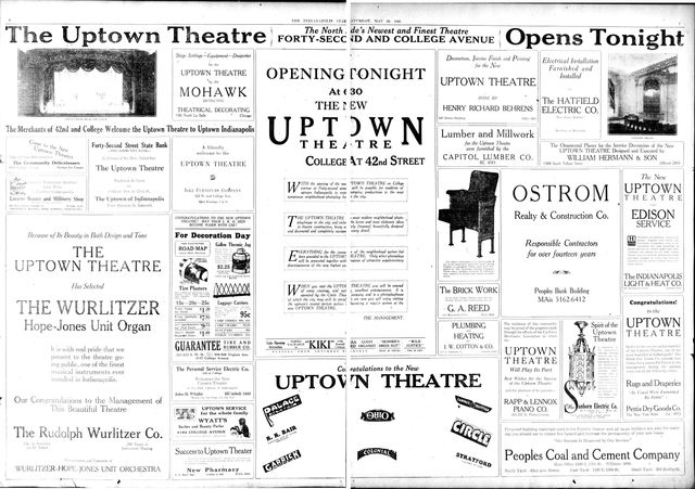 May 29, 1926 grand opening ad