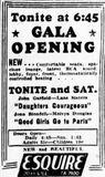 November 3rd, 1939 grand opening ad