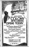 August 26, 1926 opening newspaper ad courtesy of Tim O'Neill.