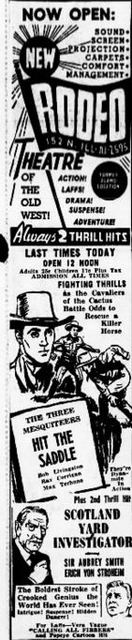 November 17th, 1946 grand opening ad as Rodeo