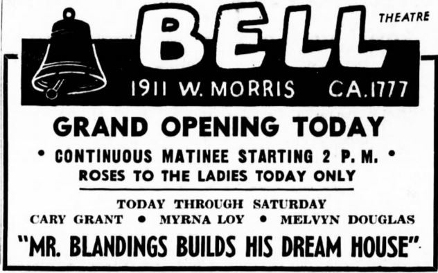 November 10th, 1948 grand opening ad as Bell