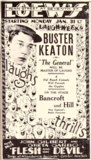 "<p>Timing's everything and for Buster Keaton and ""The General,"" his silent film will get destroyed by the Vitaphone sound films playing at the nearby Warner owned theater. But ""The General"" did stand the test of time.</p>"