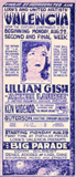 <p>Talk about showmanship… Lillian Gish on the big screen in this well designed DIY ad. And you'll also get Guterson directing the live symphony. Added attraction Ken Widenor explains the organ speaks.</p>