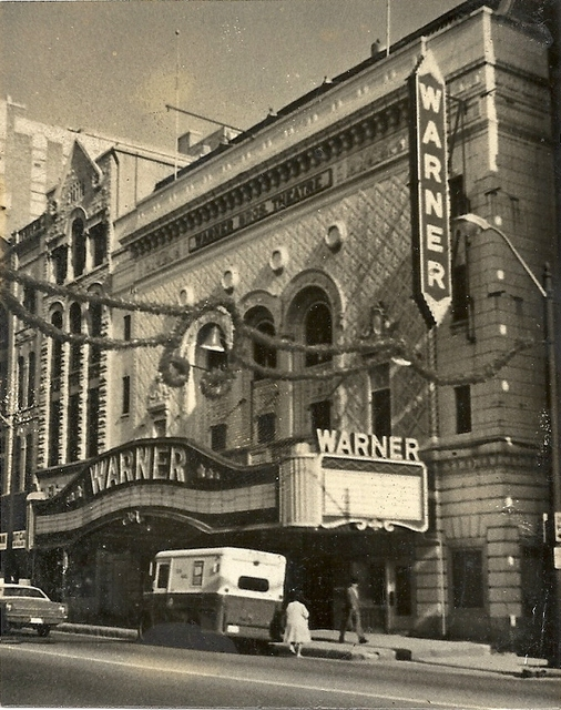 Warner Theatre right after closing