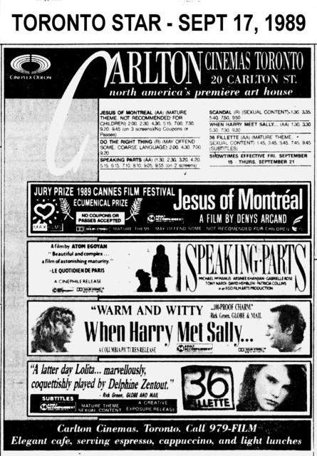 AD FOR CINEPLEX ODEON CARLTON CINEMAS